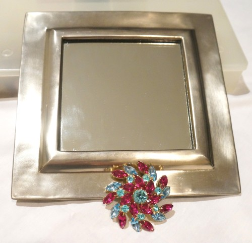 Jewelry embellished mirrors