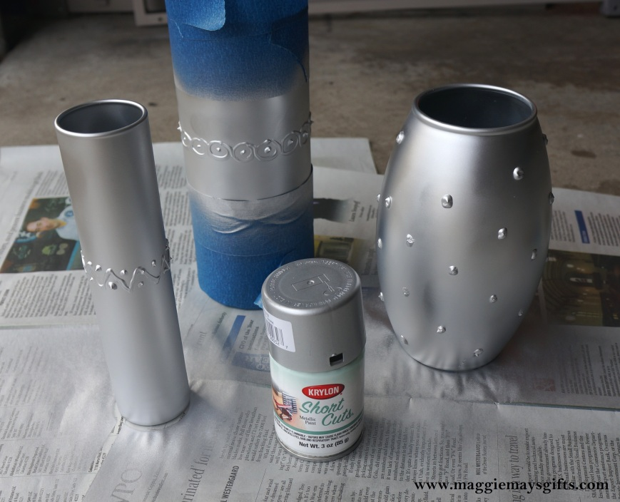 DIY Milk Glass Vases