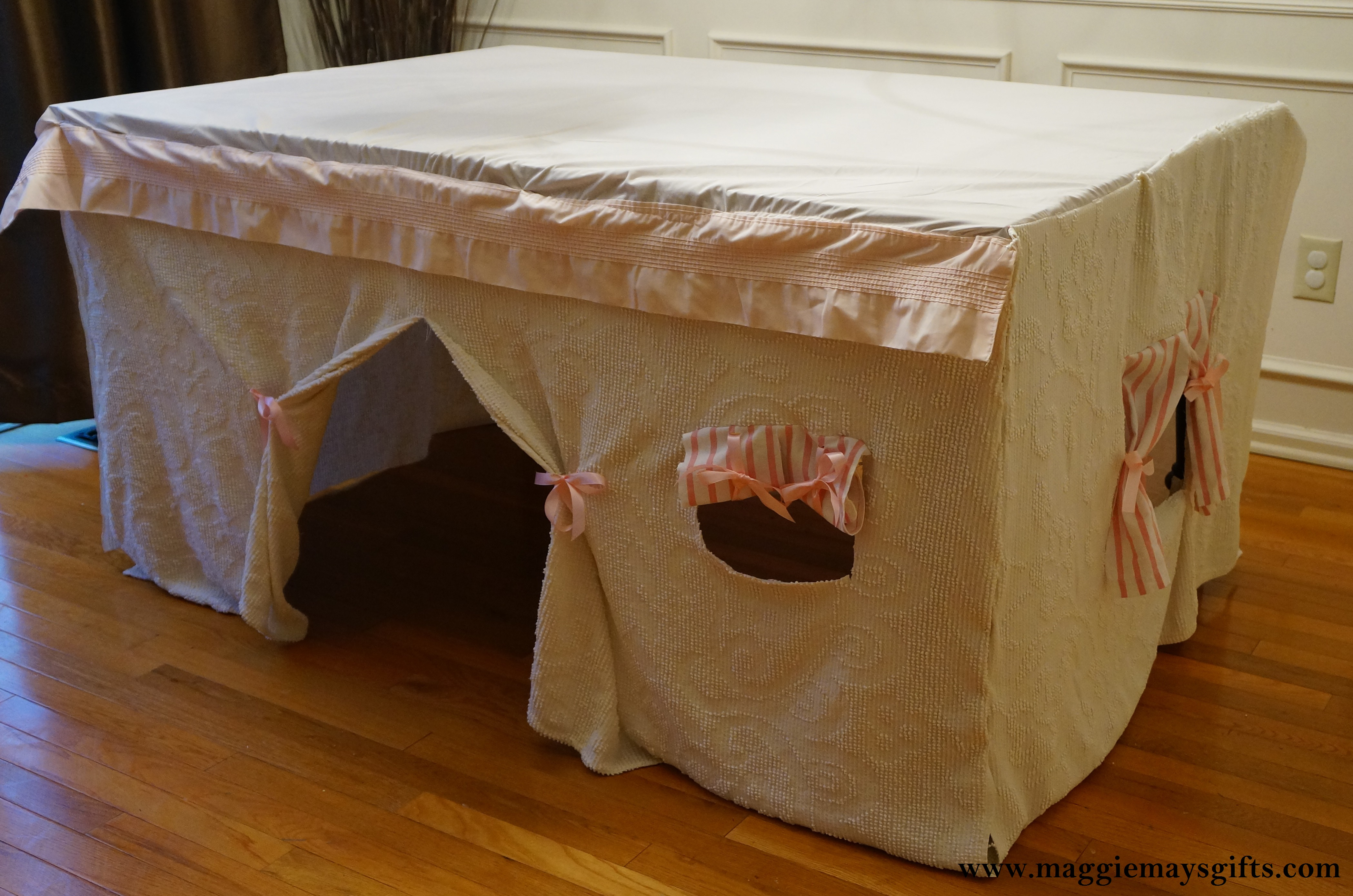 Kitchen Table Fort For Kids