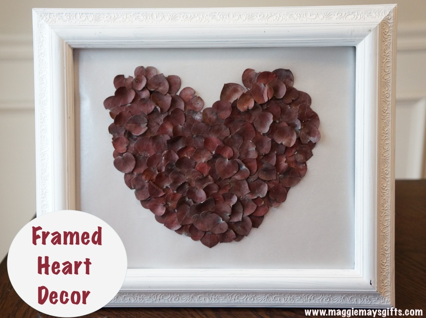 Valentine's Art Using Eucalyptus Leaves