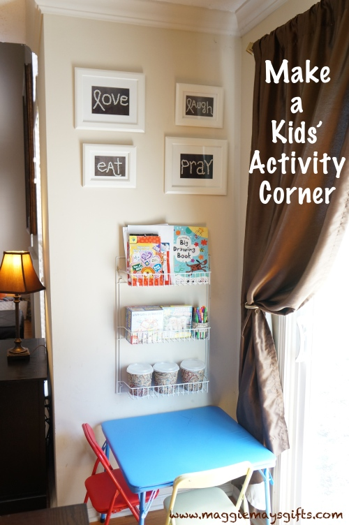 Make a kids activity corner