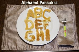 Alphabet pancakes