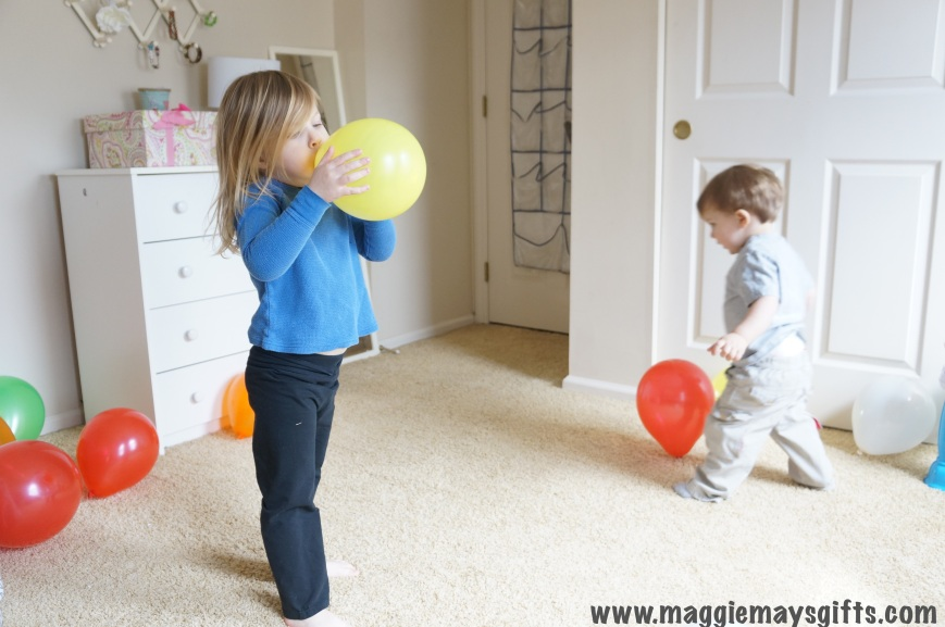 kids activity using balloons