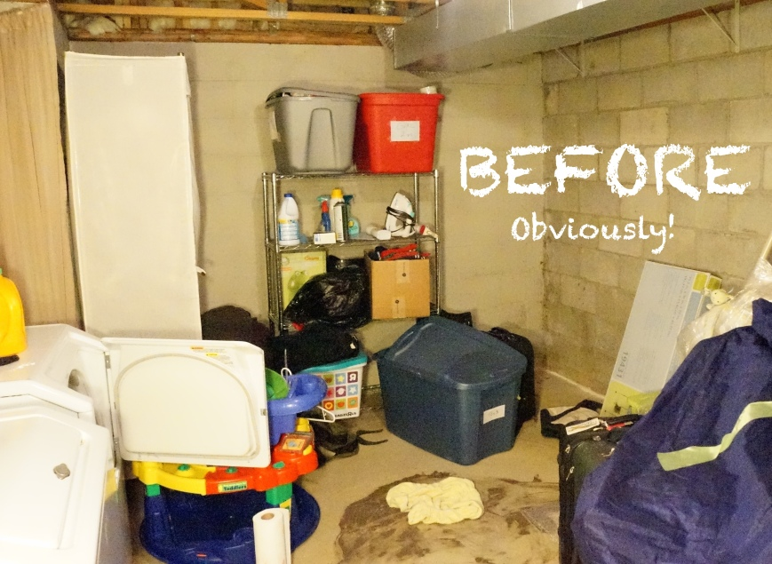 Basement Laundry Redo before and after