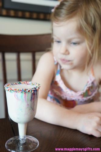 kids milkshake with sprinkles- cake martini