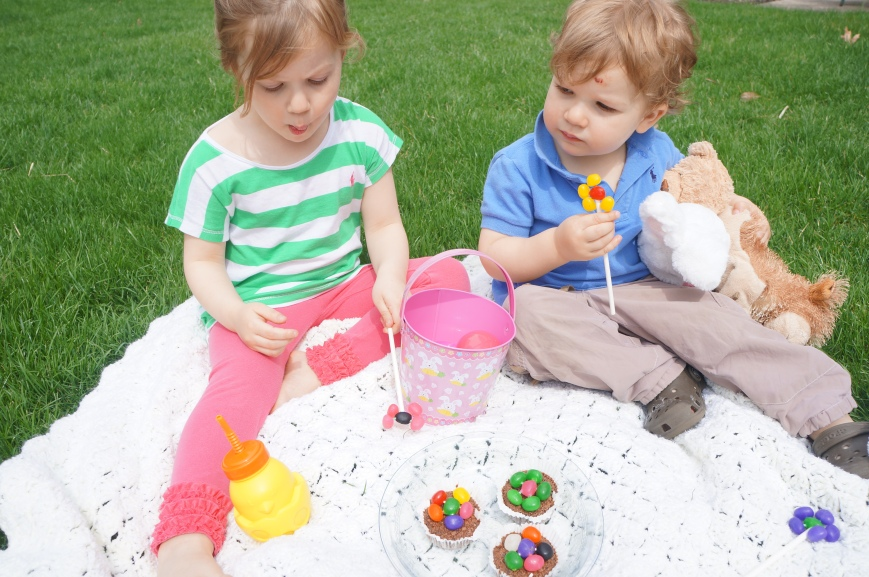 Make edible flowers with jelly beans