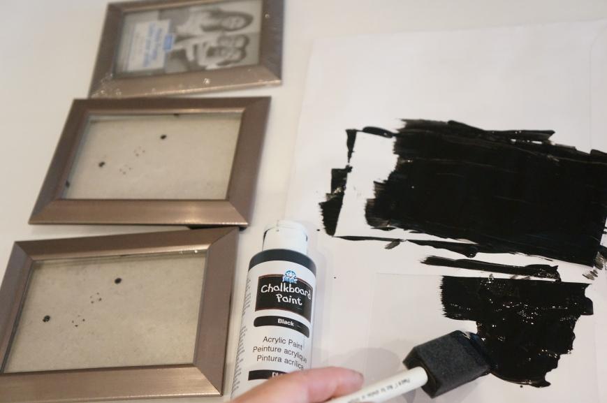 chalkboard paint frames