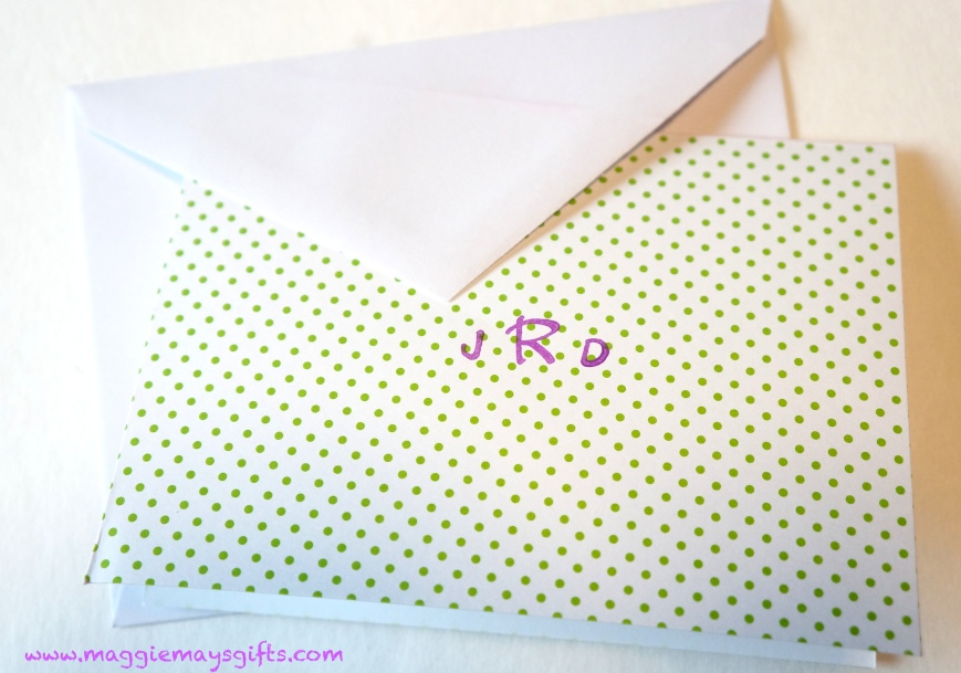 Make your own monogrammed notecards
