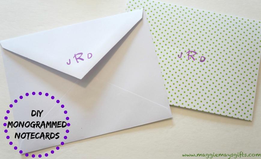 monogrammed cards