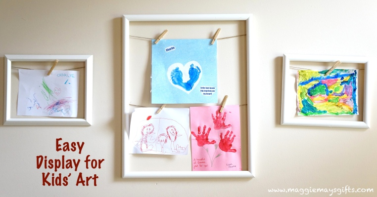 Easy Way To Display Kids' Art