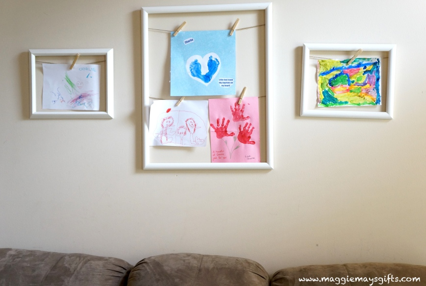 Easy Way To Display Kids' Art