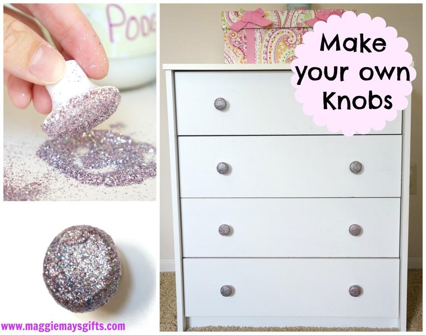 diy glitter furniture. DIY Glitter Knobs With Mod Podge Diy Furniture E