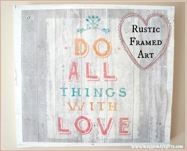 Rustic Framed Art