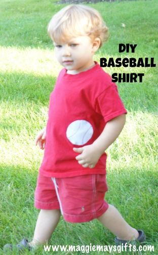 DIY baseball upcycle shirt