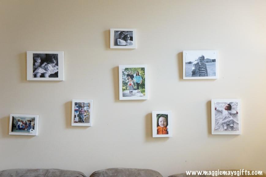 make own frames and arrange collage