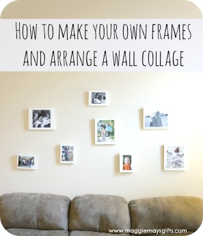 make own frames and arrange collage www.maggiemaysgifts.com