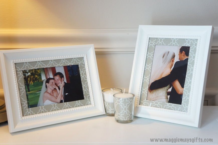 Maggie May's Kleenex decoration-frames and votive candles