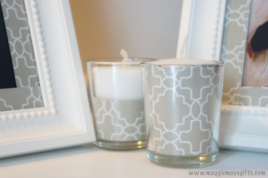Maggie May's Kleenex decoration- votive candles