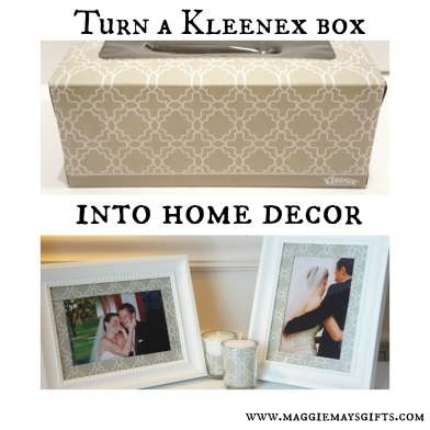 Use a kleenex box to make home decor www.maggiemaysgifts.com