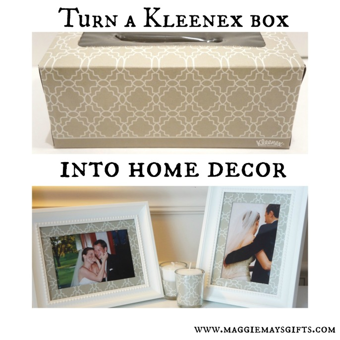 use a kleenex box for home decor-https://maggiemaysgifts.wordpress.com/2015/02/19/turn-a-kleenex-box-into-home-decor/