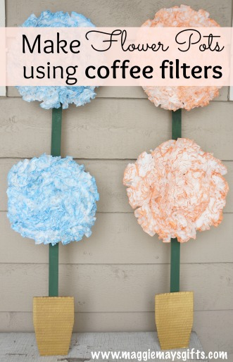 make flower craft using coffee flowers
