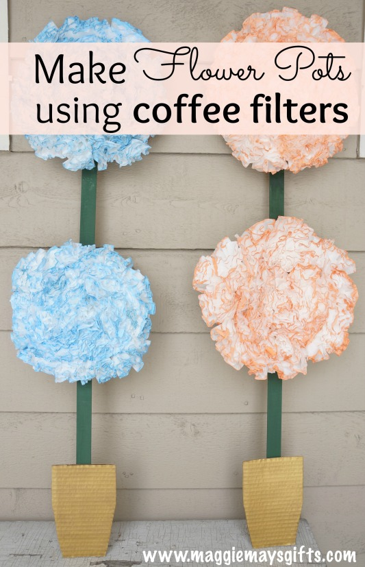 coffee filter flower craft