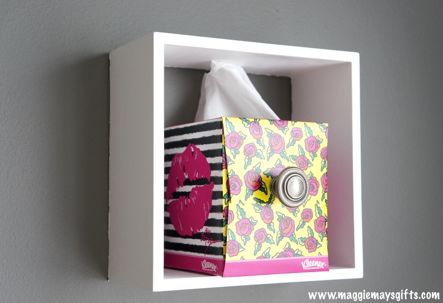 Make drawers out of Kleenex boxes-Maggie May's Gifts