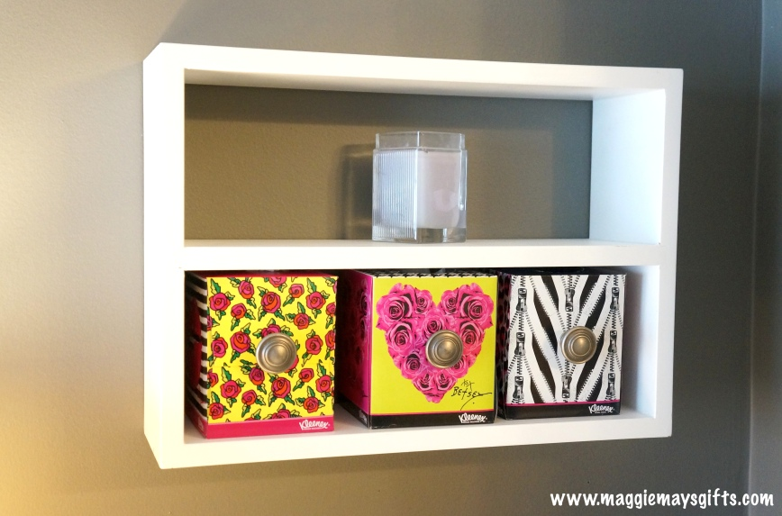 Make little drawers out of tissue boxes