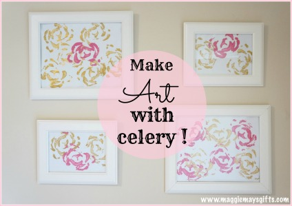 Make Art Using Celery Stalk Maggie May's Gifts