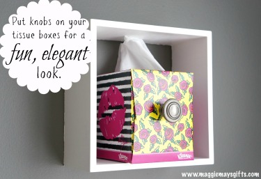 Make drawers from Kleenex boxes