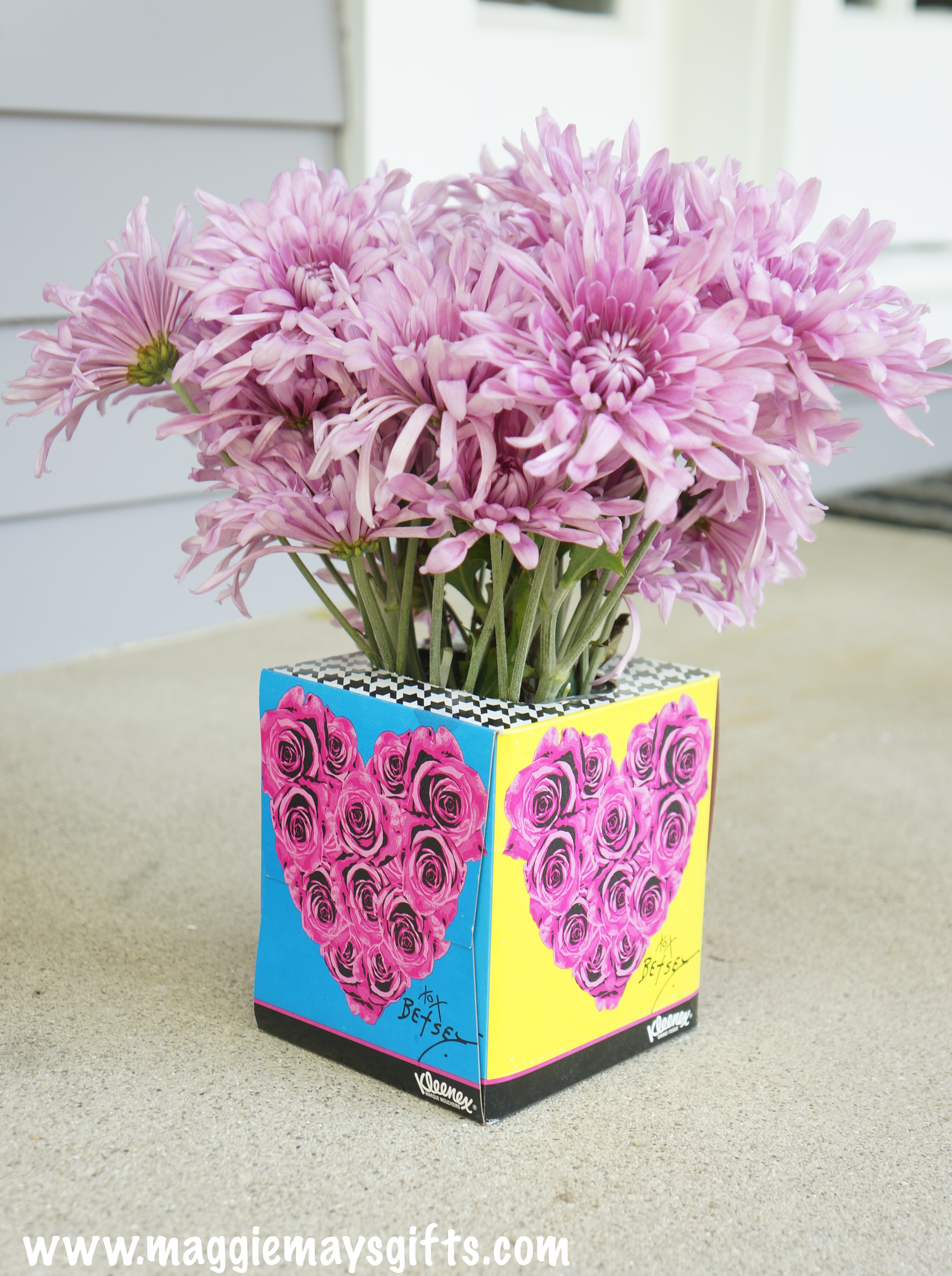 How To Turn A Tissue Box Into A Flower Vase Maggie May S