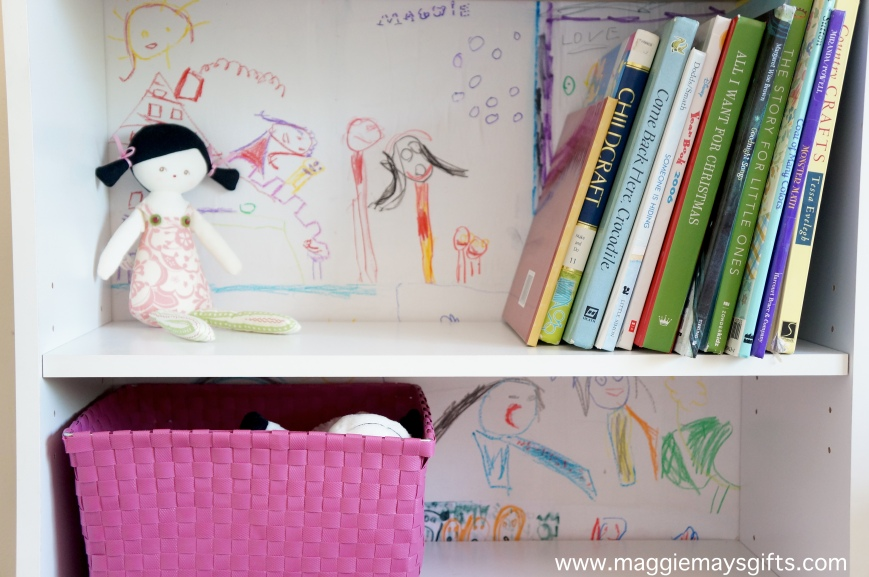 Turn your child's Artwork into custom a custom bookcase
