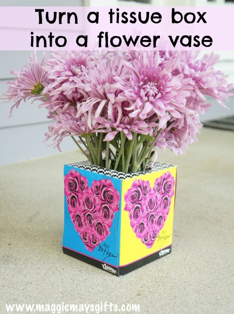how to make a tissue box into a vase