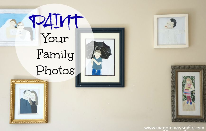 how to paint your family photos and make wall collage
