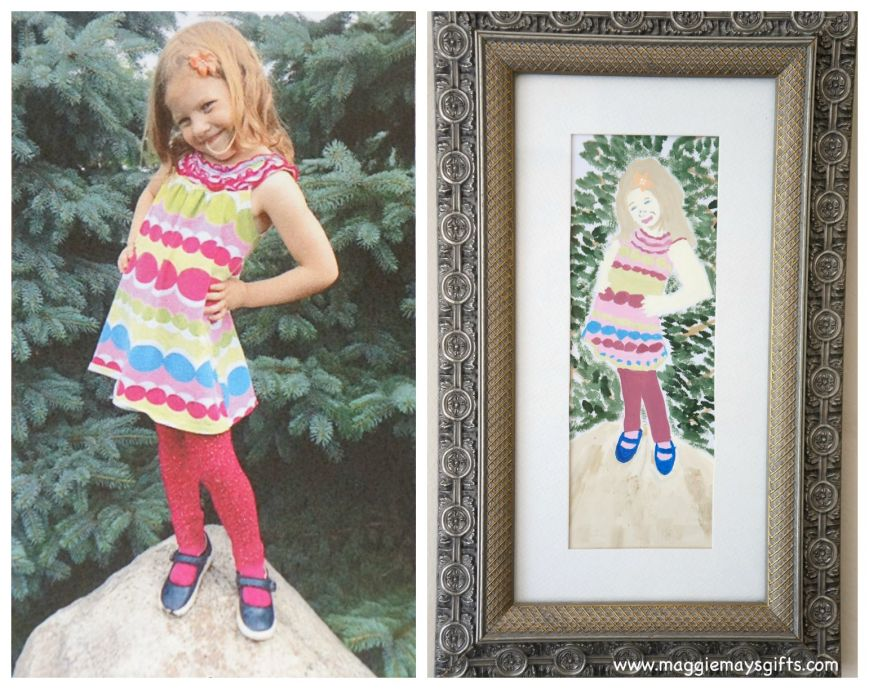 how to Paint your family photos using acrylic paint
