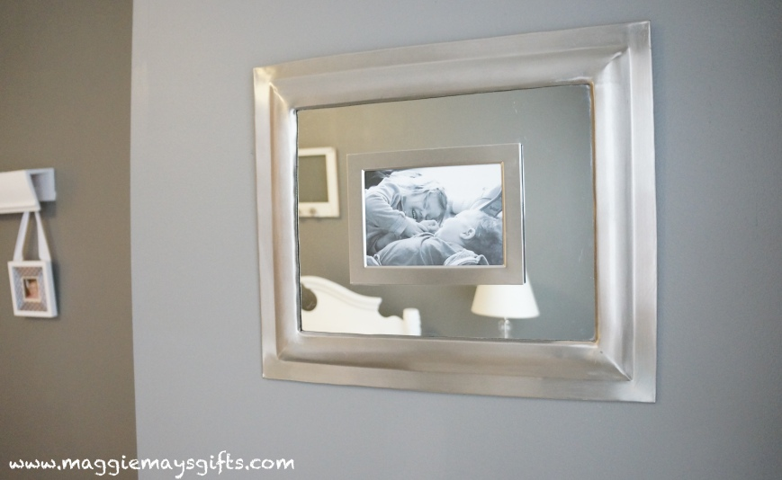 Combine a picture frame and a mirror