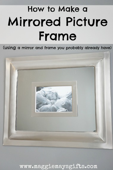 make a mirrored picture frame