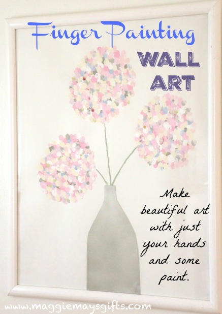 Make Wall Art by finger painting-maggiemaysgifts